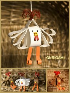 curigami - slepička a kohoutek