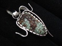 Crow Springs turquoise ear of corn pendant by Colorado Jewelrydude.