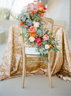Greatest Chair Flowers Ever by Primary Petals & Jose Villa