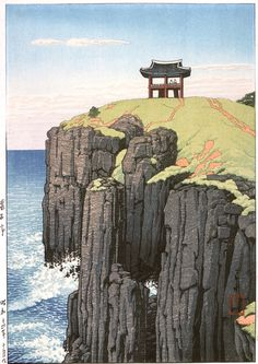 1939 (october) - Hasui, Kawase - Sōseki Pavilion, Series: Eight Views of Korea - Prints; woodcuts - Color woodblock print - Image: 39.6 x 29.1 cm) - Paper: 42.0 x 29.4 cm Gift of Mr. and Mrs. Felix Juda (M.73.37.203), LACMA Collections