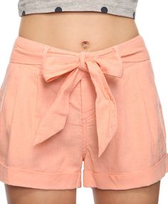 Linen shorts. Adorable but such a pain to keep wrinkle-free!