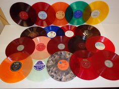Various COLORED VINYL Used Vinyl Records For by vinylrecorddude