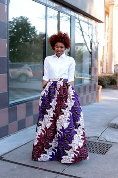 Mélange Mode Purple Print Maxi Skirt by MelangeMode on Etsy