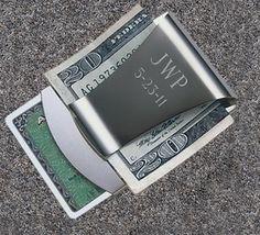 JDS Personalized Smart Money Clip/Credit Card Holder   #JDS #personalized #gift