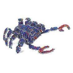 Handmade Beaded Blue Crab - South Africa