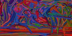 Andrea Mora title: Illusion (Version 2013) original size: 168 x 84 cm digital painting