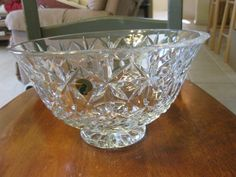 huge WATERFORD crystal 10 footed BOWL in BALMORAL by snpace