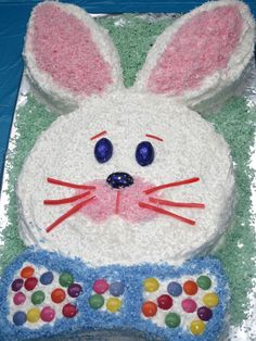 easter cakes   Bunny Cake: The easiest cut-out cake you'll ever make ...