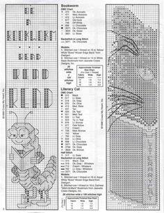 "Bookworm & Literary Cat ""Bookmarks""  Gallery.ru / Фото #7 - 15 - 633-10-66"