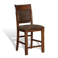 American Signature Furniture - Austin Walnut Dining Room Counter-Height Stool $179.99