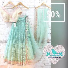 Lehenga on Sale summer by priyanka December 2016 Pakistani Dresses, Indian Sarees, Indian Dresses, Indian Wedding Outfits, Indian Outfits, Indian Clothes, Indian Weddings, Wedding Dress, Indian Attire
