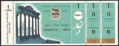 Rome 1960 Olympic ticket