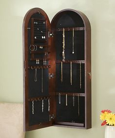 Look what I found on #zulily! Cherry Arbor Wall-Mounted Jewelry Armoire #zulilyfinds