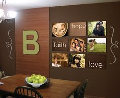Statement for large dining room wall