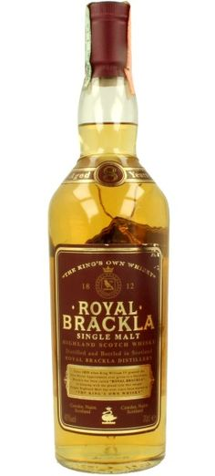 Official bottling of 8 yo Royal Brackla Single Malt Highland whisky from early 90's.