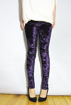 velvet leggings | ... Celebrity Women Velvet Leggings Slim Fit Soft Stretchy Pants Tights