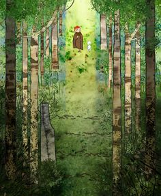 The Secret of Kells forest illustrations Book Of Kells, Das Geheimnis Von Kells, Illustrations, Illustration Art, The Secret Of Kells, Art Amour, Tom Moore, Japanese Watercolor, Song Of The Sea