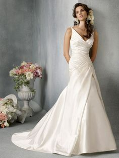 Jim Hjelm  Drop Waist A-Line Wedding Dress WDJH011 Love the front but the back wouldn't allow a bra! No bueno.