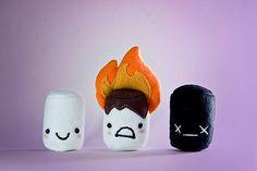 Plush Marshmallows by Etsy seller NebulousFrog $22