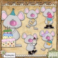 Sweet Treat Mouse 1 - Cheryl Seslar Country Clip Art
