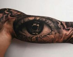 25 Ideas Eye Tattoo Design Weird For 2019 - Photo Composition İdeas Bicep Tattoo Men, Inner Bicep Tattoo, Arm Tattoo, Body Art Tattoos, Cool Tattoos, Eye Tattoos, Tattoo Sleeve Designs, Sleeve Tattoos, Realistic Eye Tattoo