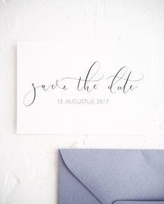 Save the date | Moderne kalligrafie | KIJKkalligrafie