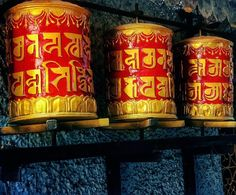 Prayer Wheels  at Majnu-Ka-Tila