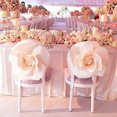 Love these seat covers to stand out even more at your wedding chair covers inspiration and groom chairs # wedding decor Wedding Chair Decorations, Wedding Chairs, Wedding Table, Wedding Reception, Wedding Venues, Wedding Dinner, Cake Wedding, Wedding Attire, Wedding Centerpieces
