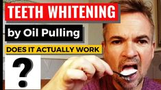 Does Oil Pulling really work to whiten teeth ? I create my own test over a 1 month period using Virgin Coconut oil. Oil Pulling, Does It Work, Teeth Whitening, Funny, Youtube, Tooth Bleaching, Hilarious, Entertaining, Fun