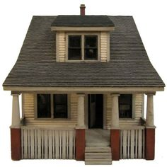 Antique and Vintage Architectural Models - 256 For Sale at - architectual house model: 1930 subdivision model. Putz Houses, Fairy Houses, Clay Houses, Kitsch, Antique Dollhouse, Dollhouse Miniatures, House Silhouette, Little Houses, Small Houses