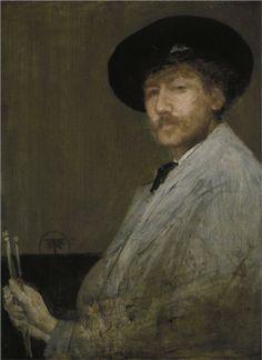 Arrangement in Grey: Portrait of the Painter, 1872  James McNeill Whistler