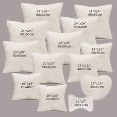 White Hold pillow Cotton Throw Hold Pillow Inner Pads Inserts Home Bed Sofa Car Cushion Sewing Pillows, Diy Pillows, Cushions On Sofa, Sofa Bed, Decorative Pillows, Throw Pillows, White Cushions, Cushion Cover Designs, Cushion Covers