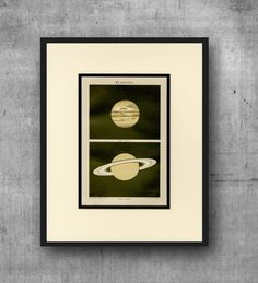 SATURN & JUPITER Astronomy Print C.1894 - Space Planets Wall Art, Home Decor, Gift Idea - Antique Lithograph - Matted 11x14 by AntiquePrintBoutique on Etsy
