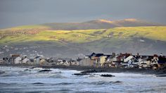 A photo of Borth, Ceredigion, by Tom Guy from Cardiff, taken while the remains of storm St Jude rumbled through.