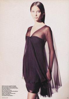 Christy Turlington photographed by Arthur Elgort for Vogue UK, April 1988.