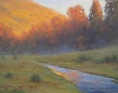 Autumn's Evening Light by Mark Saenger Oil ~ 11 x 14