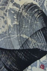Yukimi Annand, Wave. Sumi ink on paper.