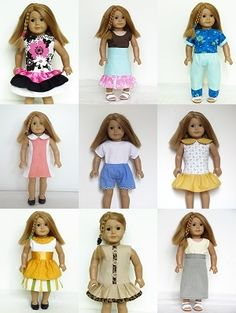 clothes patterns for 18 inch dolls