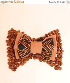 Embroidered bowtie. Great gift for him ❘❘❙❙❚❚ ON SALE ❚❚❙❙❘❘   Brown bow tie Wedding bow tie #Bowtie for men  Colour: brown, navy blue Pattern: brown Size:7*12 cm/2,7'' * 4,7'' inches   You will receive bow tie... #bowtie #neckwear #necktie #fliegen