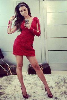 #Vestido vermelho