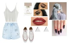 """Tuesday"" by isabellasmall on Polyvore featuring WithChic, New Look, Converse, Bella Freud and Jennifer Meyer Jewelry"