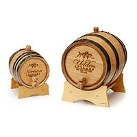 PERSONALIZED WINE BARREL - Great gift for the person with their own wine cellar