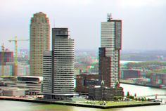https://flic.kr/p/JMgmGQ | Kop van Zuid Rotterdam 3D | anaglyph stereo red/cyan View from Euromast