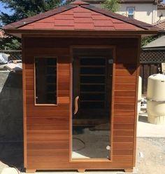 3 PERSON SIERRA/RUSTIC CANADIAN CEDAR OUTDOOR INFRARED SAUNA, 3 YEAR WARRANTY! Sauna Heater, Infrared Sauna, Outdoor Gardens, Shed, Outdoor Structures, Rustic, Outdoor Decor, Home, Country Primitive