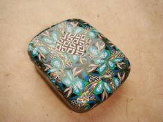 Polymer clay tin by Carina's Photos and Polymer Clay, via Flickr