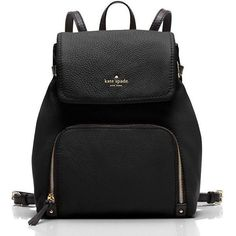 Kate Spade Cobble Hill Charley ($348) ❤ liked on Polyvore featuring bags, handbags, kate spade backpack, back pack purse, retro purse, retro bag and one shoulder backpack