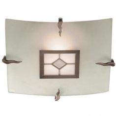 Searchlight Tiffany Halogen Flush Diamond Light In Frosted Glass