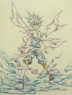 My art Hunter x Hunter Killua Zoldyck gon freecss more like excuse to draw killua in short shorts lol bye Hisoka, Killua, Zoldyck, Hunter X Hunter, Anime Hunter, Manga Anime, Anime Art, Character Art, Character Design
