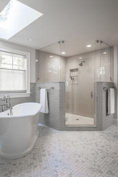 Modern Farmhouse, Rustic Modern, Classic, light and airy master bathroom design suggestions. Bathroom makeover suggestions and bathroom renovation ideas. Bathroom Renos, Bathroom Layout, Bathroom Interior Design, Bathroom Renovations, Bathroom Ideas, Bathroom Designs, Bathroom Plans, Bathroom Cabinets, Bathroom Organization