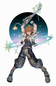 """One of my fav keyblades is getting a form change YES Kingdom Hearts Games, Kingdom Hearts Characters, Kingdom Hearts Fanart, Sora And Kairi, Kh 3, Pokemon, Kindom Hearts, Vanitas, Disney Art"